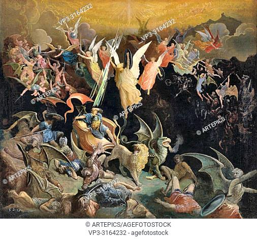Doré Gustave - the Fall of the Rebel Angels