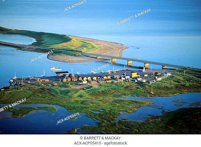 Aerial of Covehead Harbour, Prince Edward Island, Canada