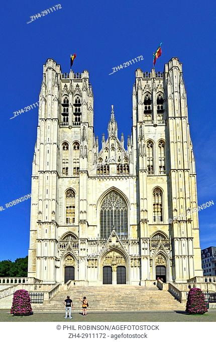 Brussels, Belgium. Cathedral of St. Michael and St. Gudula (1519: Gothic)