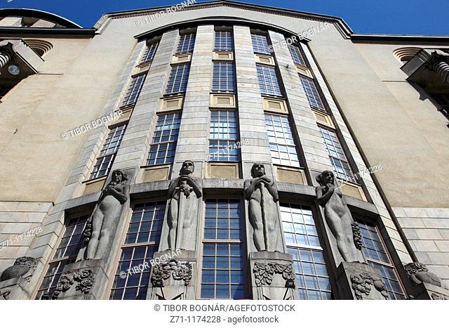 Finland, Helsinki, historic architecture detail
