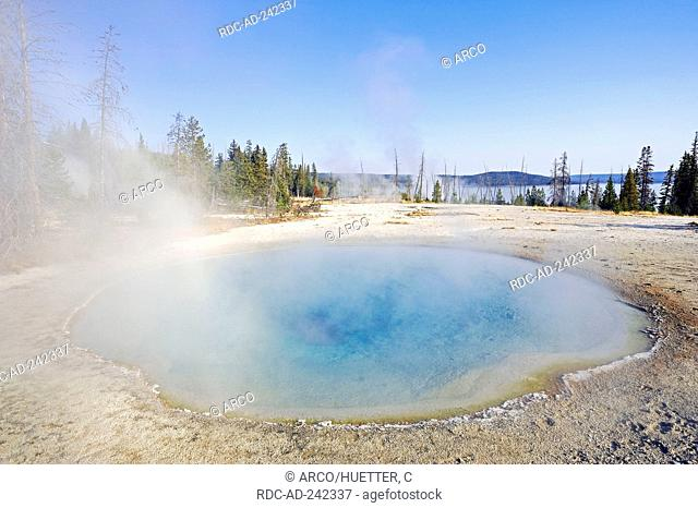Hot Spring  'Blue Funnel Spring' West Thumb Geyser Basin Yellowstone national park Wyoming USA