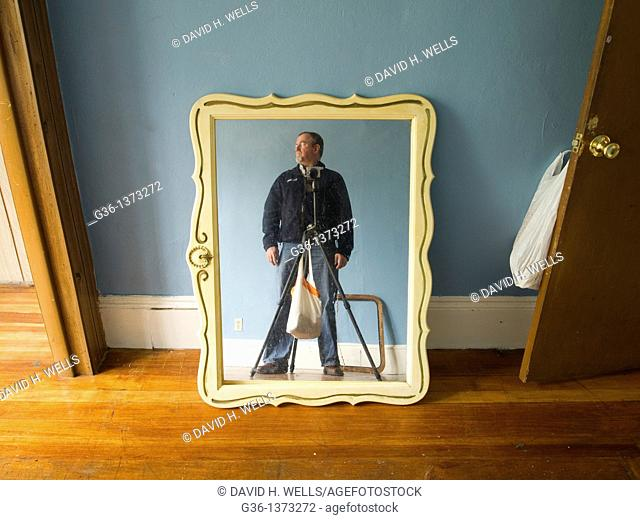 Photographer photographs personal property left by former owners in a foreclosed house in Providence, Rhode Island, United States