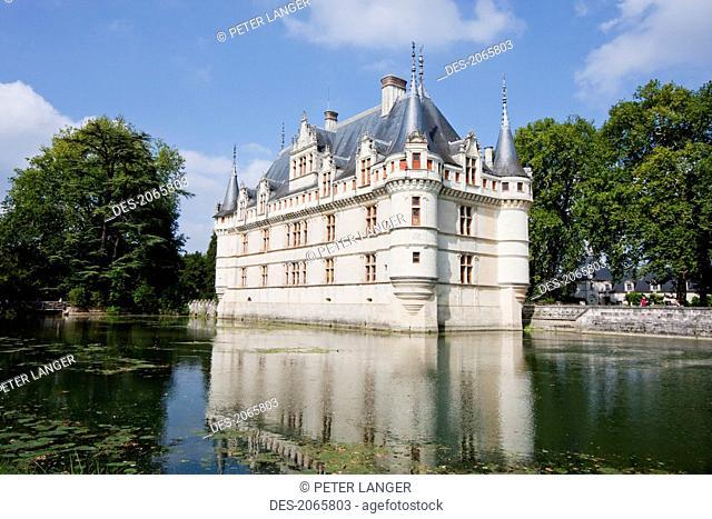 Chateau D'azay-Le-Rideau, Azay-Le-Rideau, Indre-Et-Loire, France