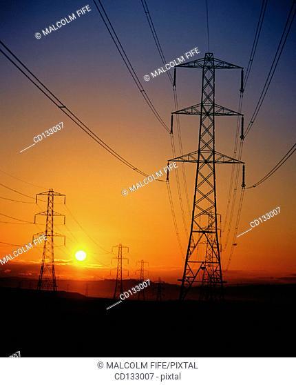 Electricity pylons. Scotland