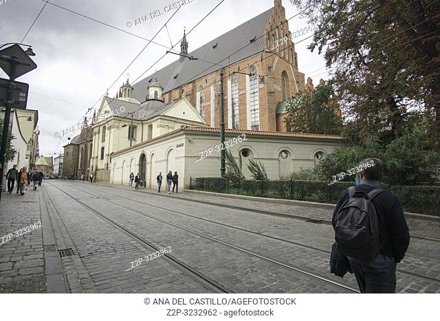 KRAKOW POLAND ON SEPTEMBER 23, 2018: Franciscan church in Krakow