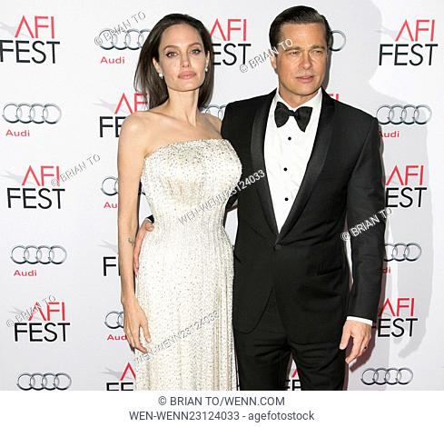 World premiere gala screening of 'By the Sea' at TCL Chinese Theater - Red Carpet Arrivals Featuring: Angelina Jolie Pitt, Brad Pitt Where: Los Angeles