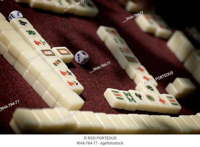 Mahjong tiles, Dali, Yunnan, China, Asia