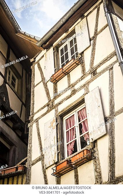 Medieval house in Colmar, Alsace (department of Haut-Rhin, region of Grand Est, France)