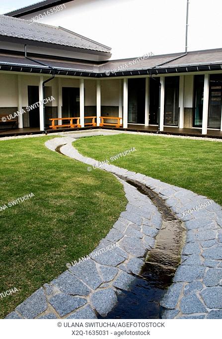 Takayama Local History Museum interior garden
