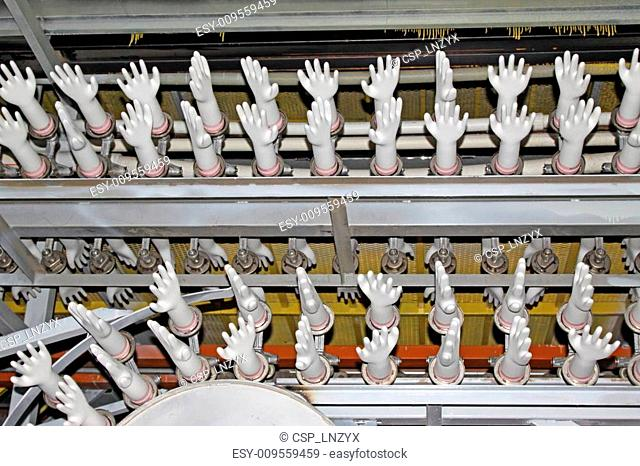 acrylonitrile butadiene gloves production line