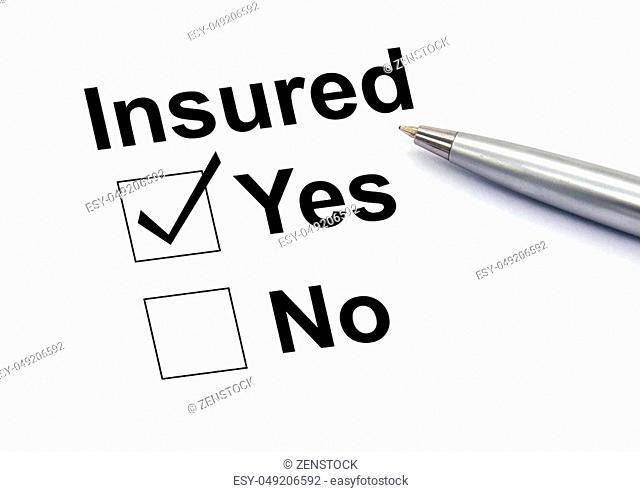 Insured yes check-box