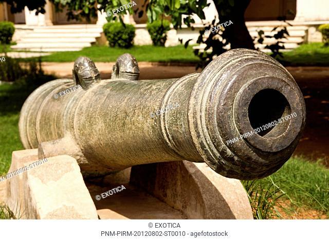 Close-Up of a Cannon, Chowmahalla Palace, Hyderabad, Andhra Pradesh, India