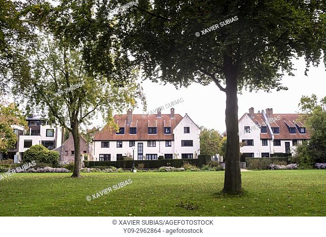 Houses near Minnewater Park, Bruges, Belgium