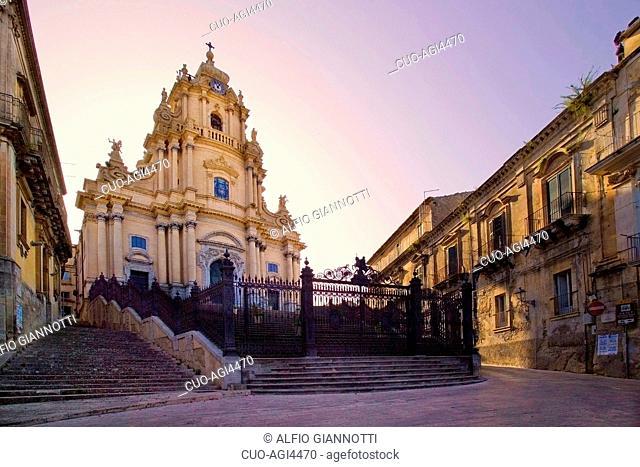 San Giorgio Cathedral, Ragusa Ibla, Ragusa Superiore, province of Ragusa, Sicily, Italy, Europe