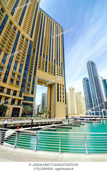 Promenade around Dubai Marina, Dubai, United Arab Emirates
