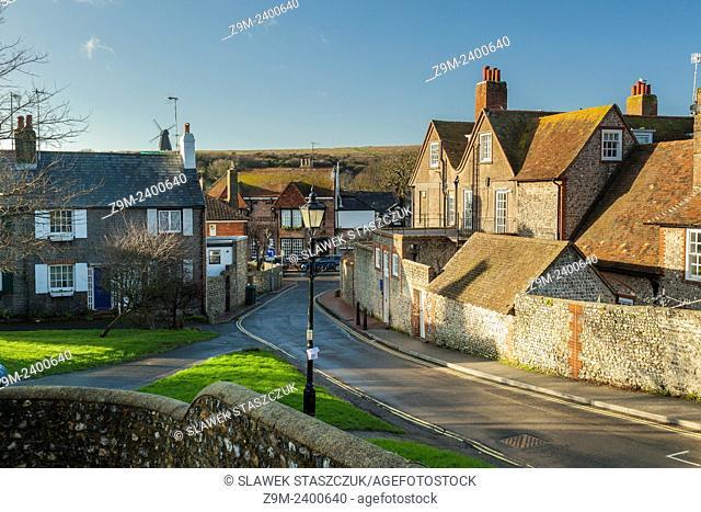Winter afternoon in Rottingdean village near Brighton, UK