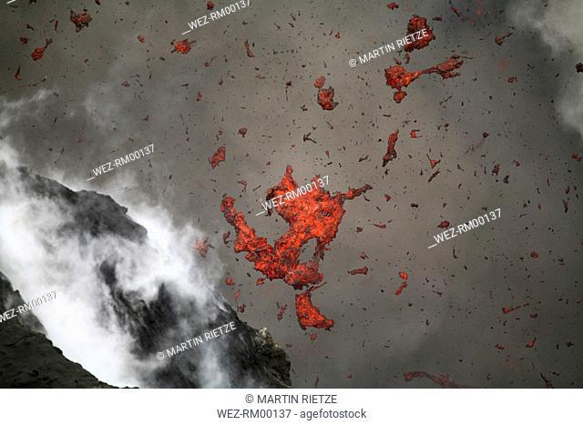 Vanuatu, Volcano eruption