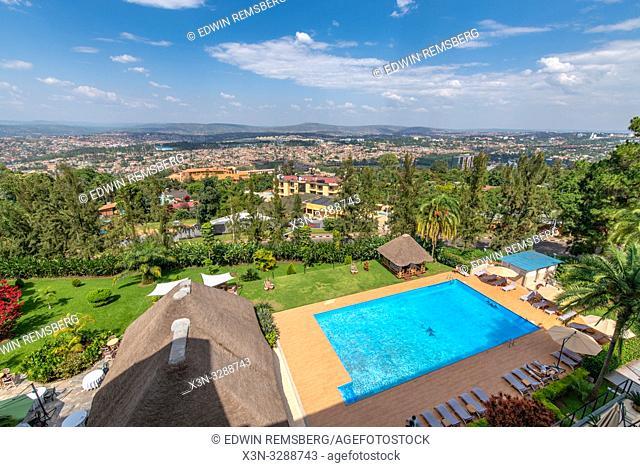 The rear pool of the Hotel des Mille Collines (Hotel Rwanda), Kigali, Rwanda
