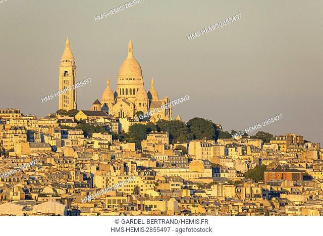 France, Paris, the Basilica of the Sacred Heart on the hill of Montmartre
