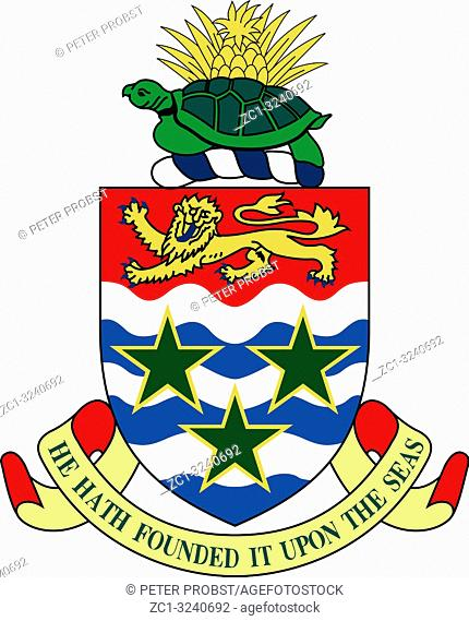 Coat of arms of the British overseas territory Cayman Islands