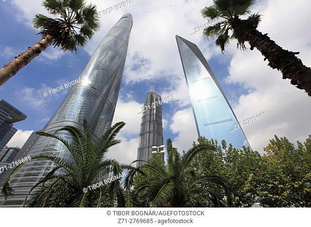 China, Shanghai, Pudong, Shanghai Tower, Jinmao Tower, Shanghai World Financial Center,