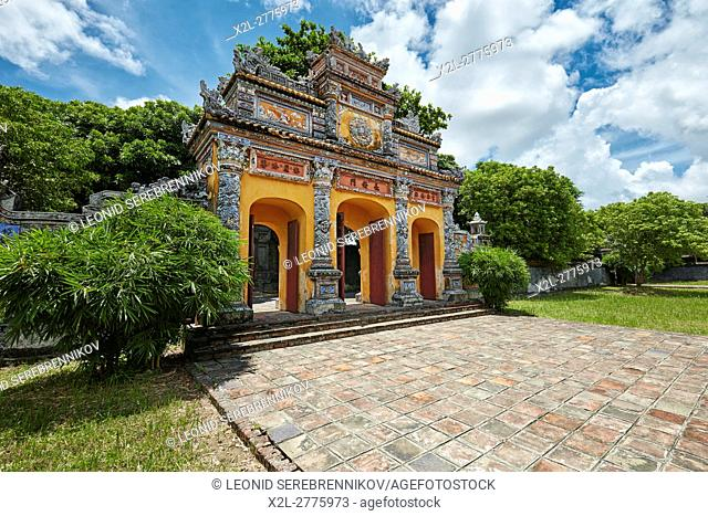 Truong An Gate to the Truong Sanh Residence. Imperial City (The Citadel), Hue, Vietnam