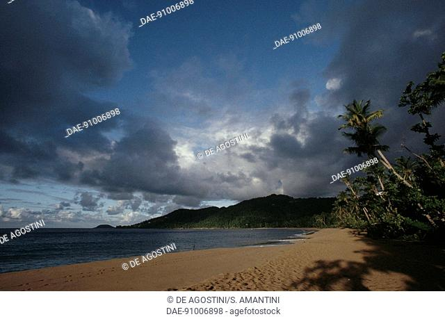 Grande-Anse Beach, La Desirade Island, Guadeloupe, Overseas Department of the French Republic
