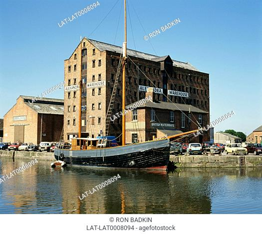 The Gloucester Docks are linked to the sea by a 16 mile ship canal link,the Gloucester and Sharpness canal. The docks area of Gloucester has been redeveloped...