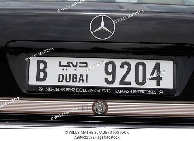 Car License Plate, Dubai, United Arab Emirates