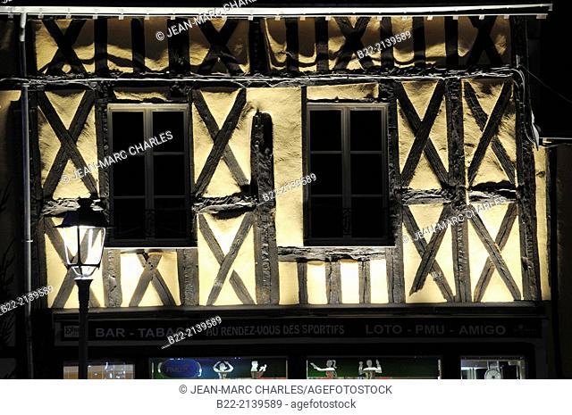 Public lighting, Aubigny-sur-Nère, Cher, région Centre, France
