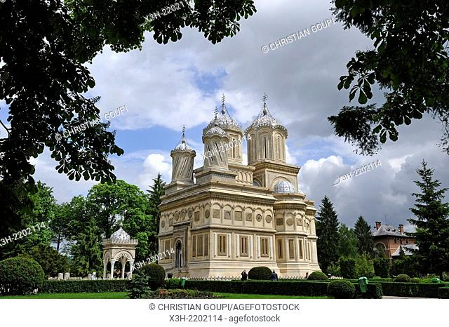 Romanian Orthodox Cathedral of Curtea de Arges, Romania, Southeastern and Central Europe