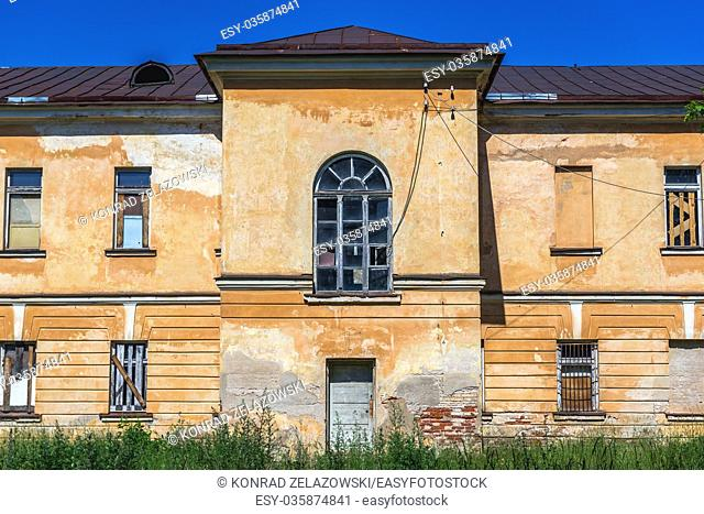 Old abandoned building in Daugavpils Fortress (also called Dinaburg Fortress) in Daugavpils city, Republic of Latvia