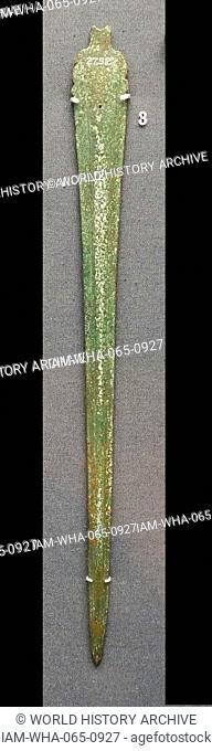 Bronze sword Mycenaean, 1400-1100 BC Said to be from Corfu, Greece