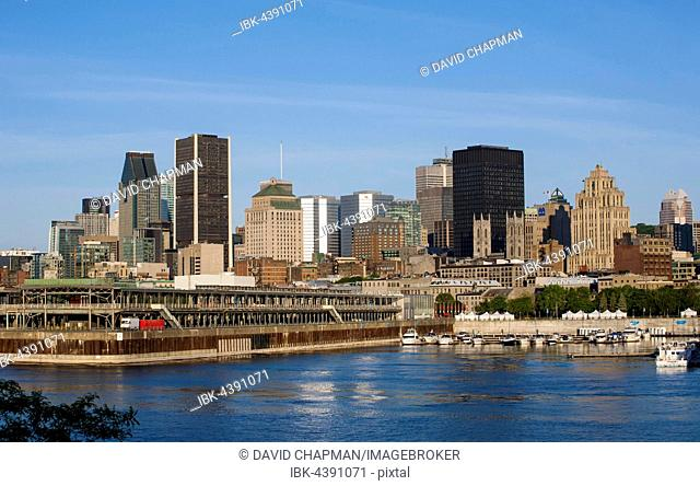 City Skyline with Saint-Lawrence river, Montreal, Quebec, Canada
