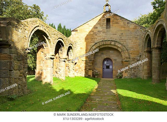 Holy Cross Old Church Whorlton Swainby North Yorkshire England