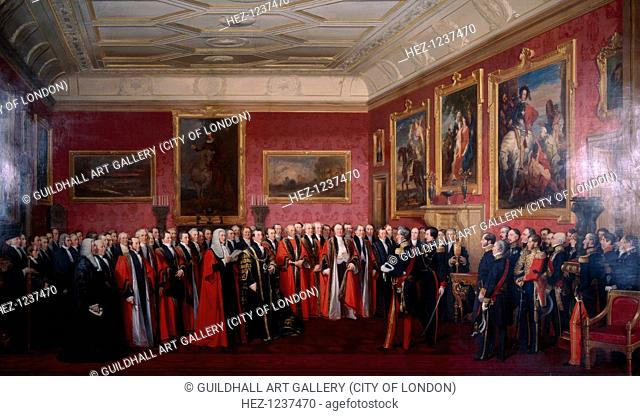The Lord Mayor presenting an Address of Congratulation to HM Louis-Philippe at Windsor Castle, October 1844