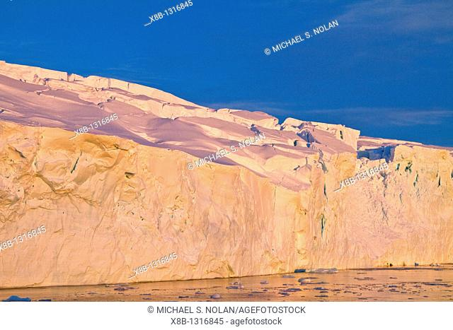 Sunset over Stonington Island, Antarctic Peninsula, Antarctica, Southern Ocean  MORE INFO Stonington Island was chosen as the site for the East Base of the...
