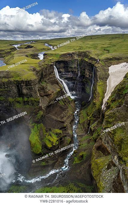 Haifoss Waterfalls, Thjorsardalur valley, Iceland