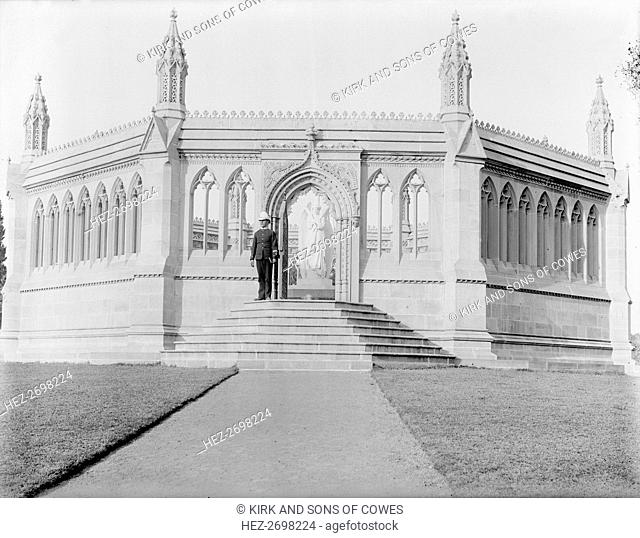 Grenadier at Memorial Well, Cawnpore, India, 1902. Creator: Kirk & Sons of Cowes
