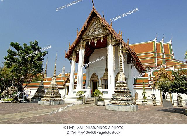 Wat Phra Chetuphon monastery King Rama one Chakri dynasty 16th century biggest temple in Thailand ; Phra Uposatha Main Chapel ; Thailand ; South East Asia
