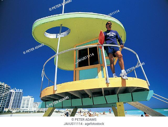 Lifeguard station, Miami, Florida, USA