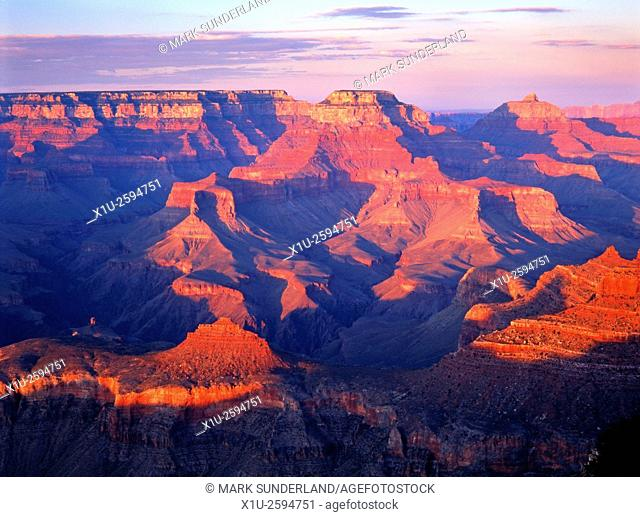 Sunset at Hopi Point Grand Canyon Arizona USA