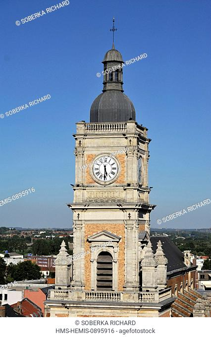 France, Pas de Calais, Lens, bell tower of St Leger Church