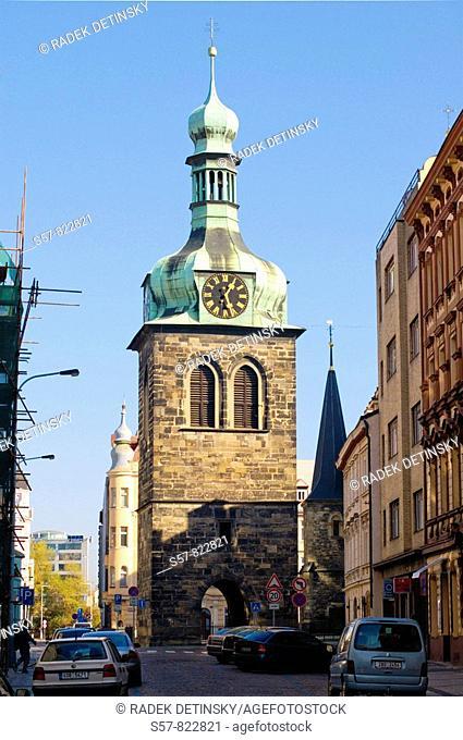 gothic architecture, Petrska vez tower, Prague, Czech Republic