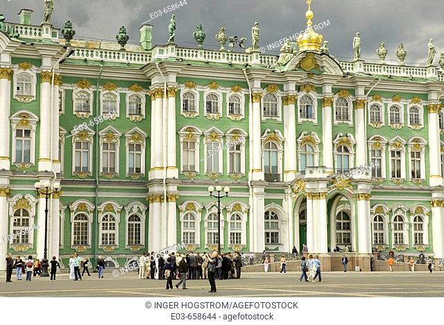 Russia. St. Petersburg. Winter Palace. The Hermitage Museum