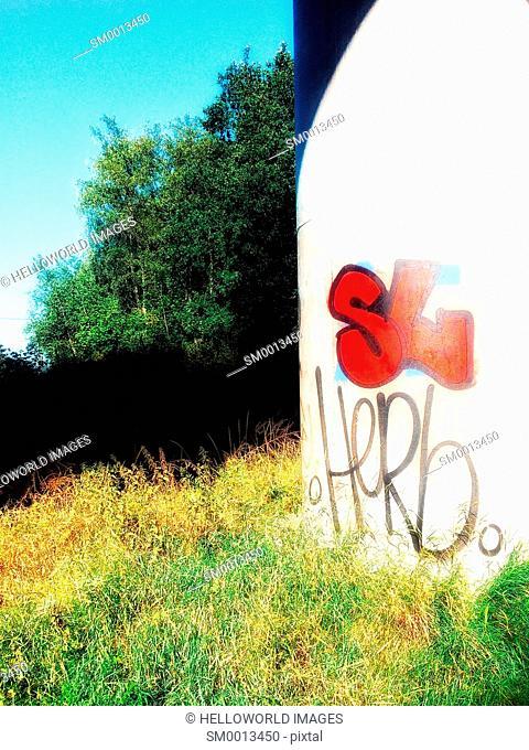 Graffiti and nature, Sweden, Scandinavia