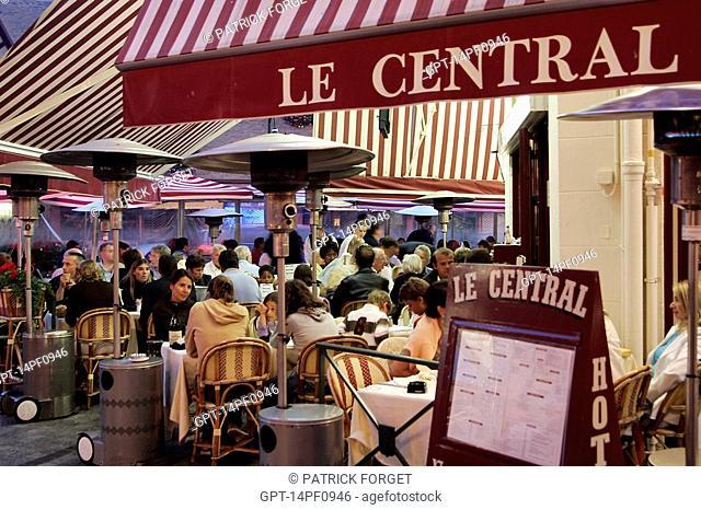 HOTEL RESTAURANT 'LE CENTRAL', TROUVILLE-SUR-MER, CALVADOS 14, NORMANDY, FRANCE