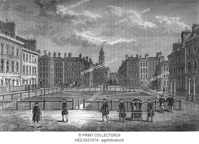 Hanover Square, Westminster, London, in 1750, c1800 (1878). Artist: Unknown