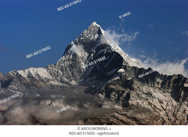 Mountain Annapurna I, 8091 m, Pokhara, Annapurna-Himal, Nepal, Himalayas