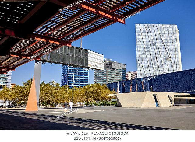 Convention Center, Museu Blau, Telefonica building, Forum, Barcelona, Catalunya, Spain, Europe
